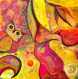 Word Gets Around acrylic 24x24 Amelia My