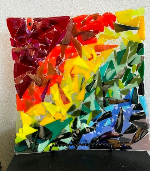Rainbow Plate by Linda Weiss