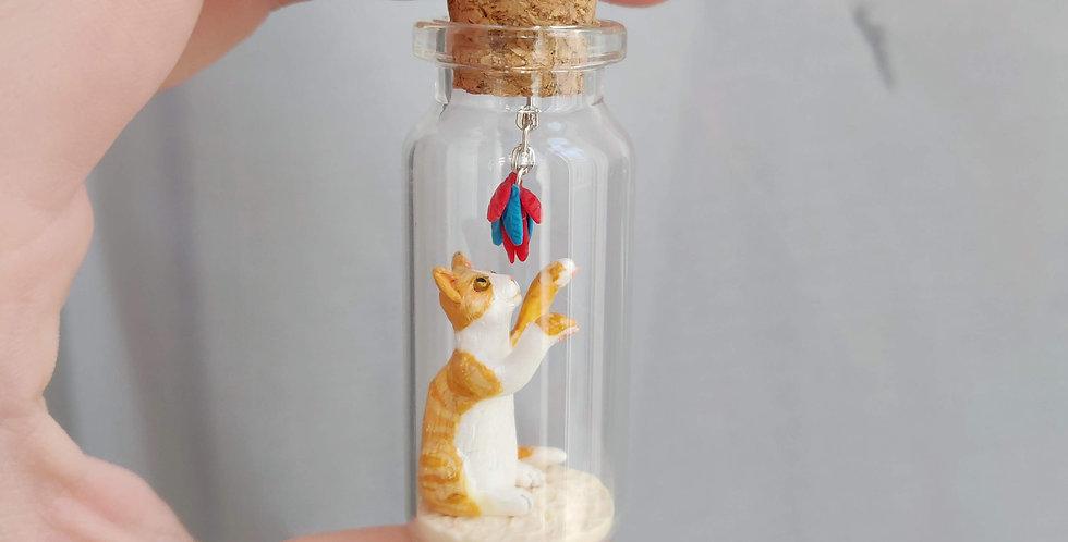 little cat / bottle art