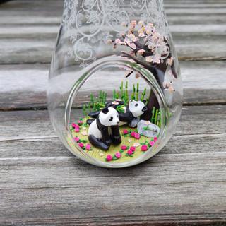 Pandas unterm Kirschbaum / Spezialanfertigung