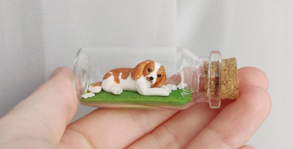 little puppy / bottle art