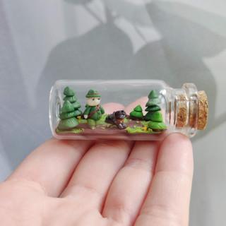 Waldszene mit Jäger / Spezialanfertigung