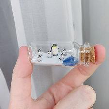 kleine Pinguine / Flaschenkunst