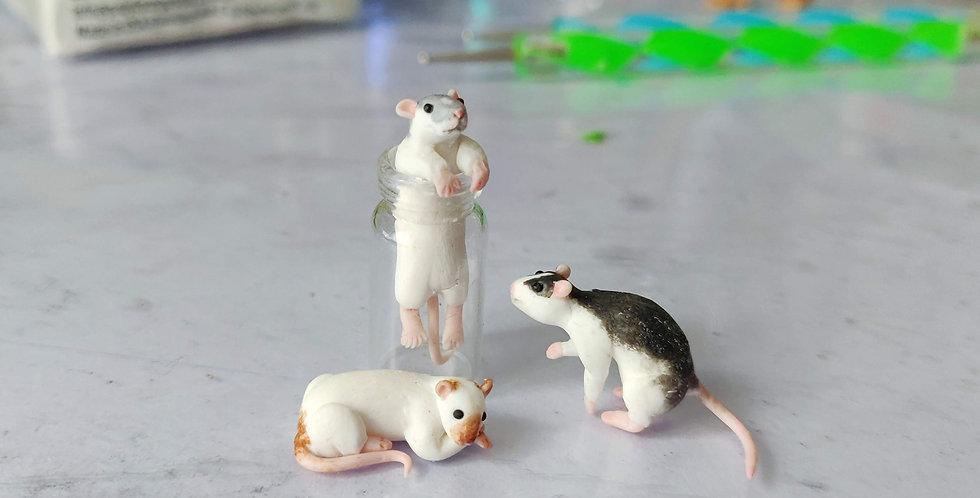 Drei kleine Ratten / Spezialanfertigung Vorlage