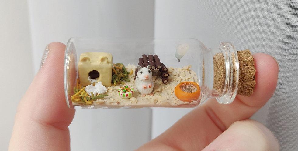 Little hamster / bottle art