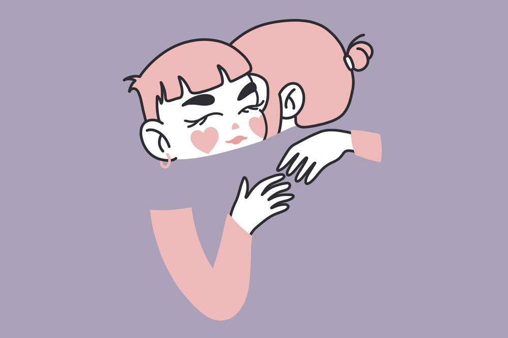 abrazo ilustración