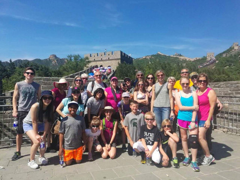 Group photo at the Great Wall