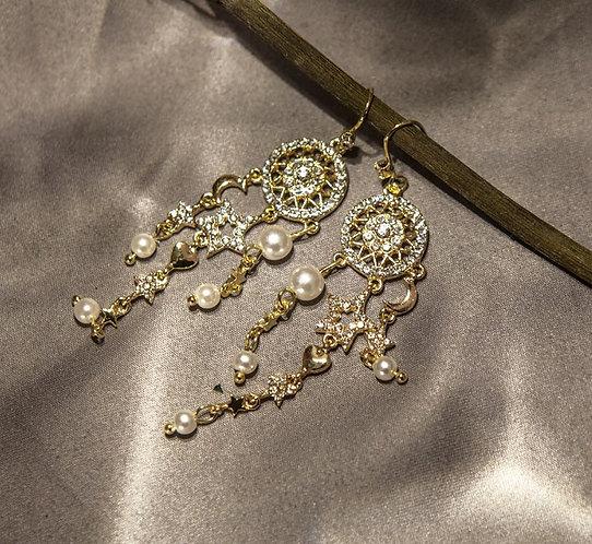 Stars and Moon earrings
