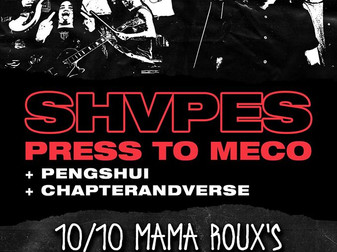 Live Review: SHVPES w/ Chapter And Verse, Pengshui, & Press To MECO | Mama Roux's, Birmingha