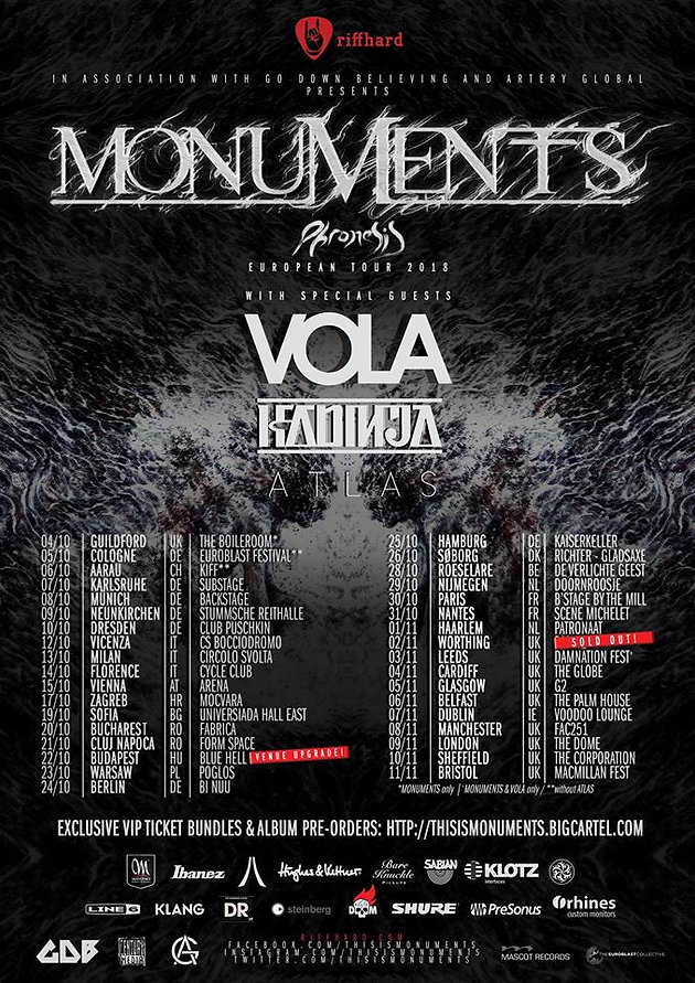 15a34da98a Last month, intercontinental prog-metallers Monuments gave us the first new  music since their very well-received sophomore effort, The Amanuensis, ...