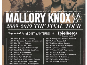 Live Review: Mallory Knox - The Final Tour | Gorilla, Manchester | 24/09/19