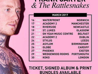 Frank Carter and the Rattlesnakes announce March 2017 Headline Tour!
