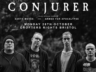 Live Review: Conjurer w/ Earth Moves & Armed For Apocalypse | The Crofters Rights, Bristol | 28/