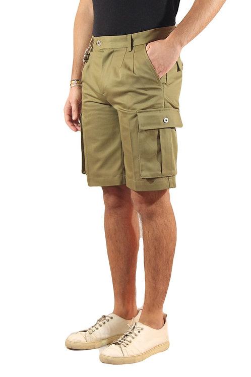 R108 C-VS Pantalone doppia pences cargo verde