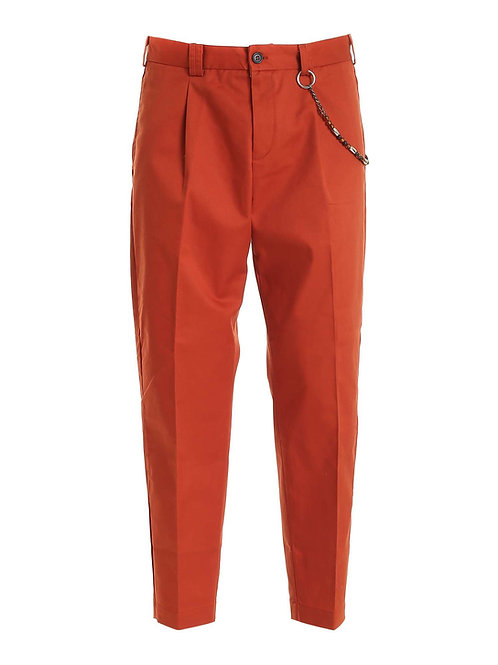 R100 C-RR Pantalone relaxed fit cotone rosso