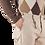 Thumbnail: R103 D-BE Pantalone slim fit una pence taglio vivo denim beige