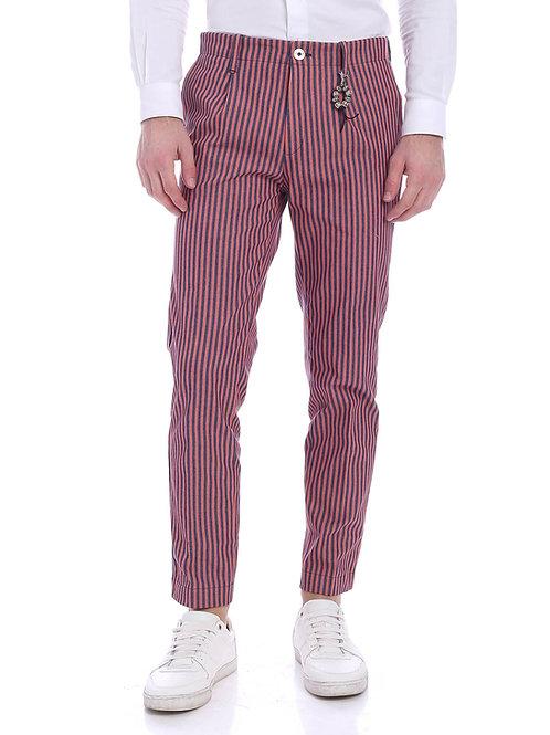 R92 D-RR Pantalone una pence riga blu rossa