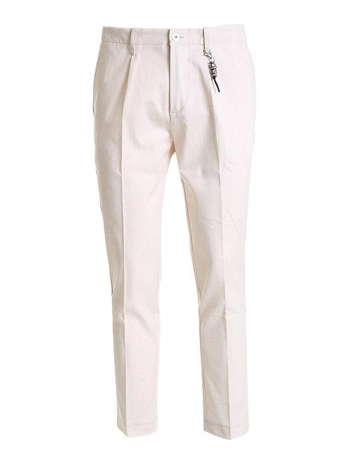 R92 C-SB Pantalone una pence spigato beige