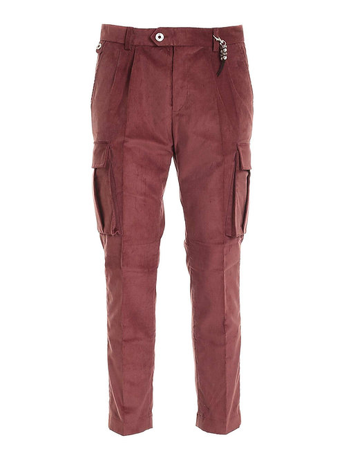 R102 V-RO01 Pantalone cargo doppia pence mattone