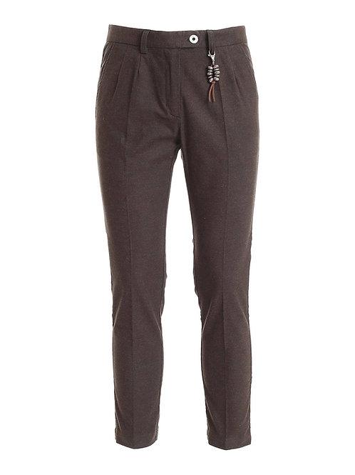 R101 C-MA2 Pantalone doppia pences marrone