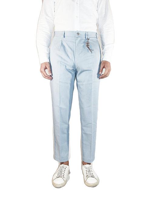 Pantalone comfort fit una pence denim celeste D100 D-CE