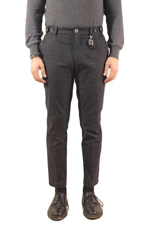 R106 C-G2 Pantalone slim fit tartan grigio scuro