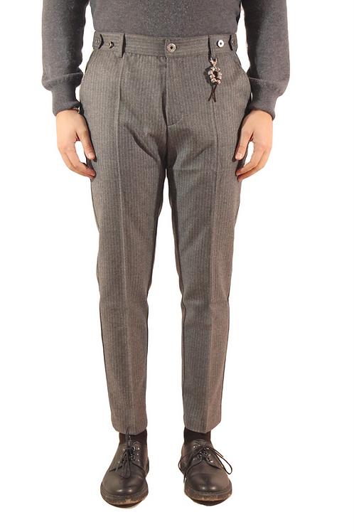 R106 LA-GG Pantalone slim fit gessato grigio