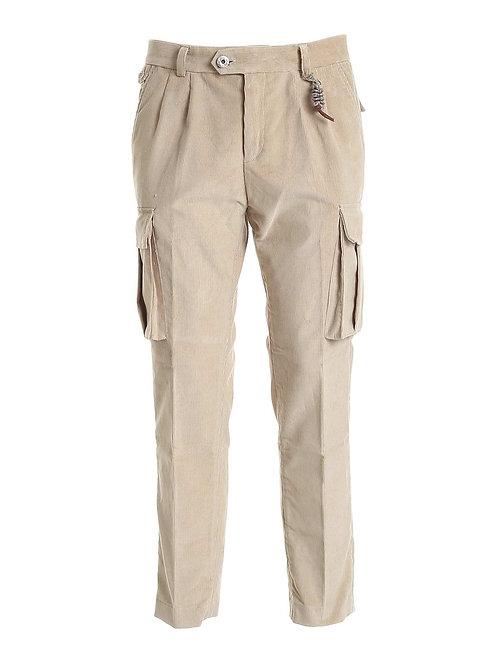 R102 V-BE Pantalone cargo doppia pence beige