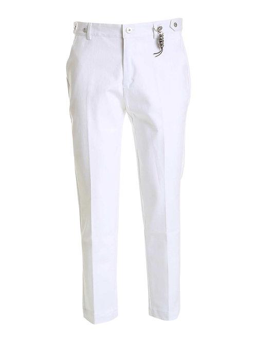 R106 D-B Pantalone denim bianco