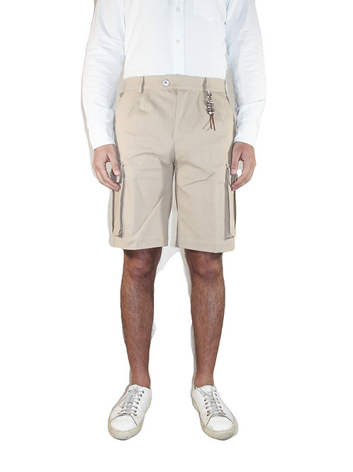 Cargo double pences short trousers in barley denim R108 D-OR