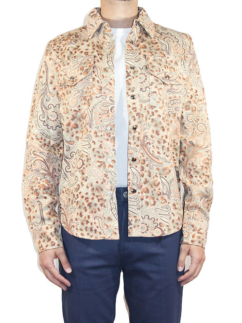 Camicia Western cotone damascato CAM03 D-V