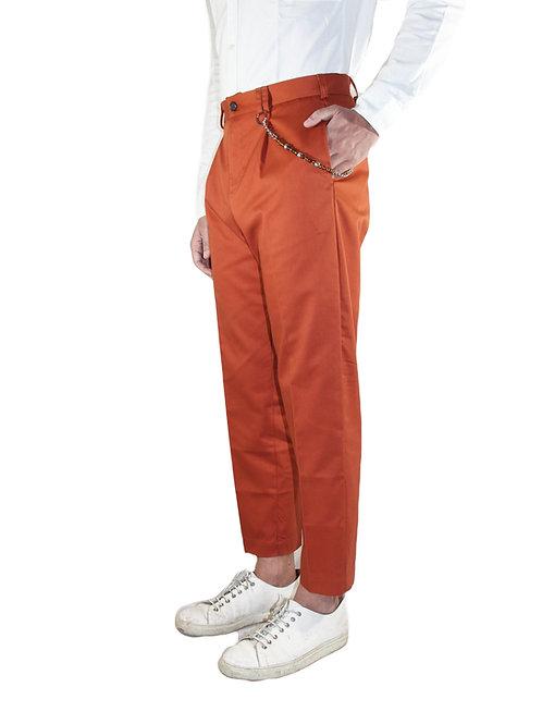 Pantalone comfort fit cotone rosso ruggine R100 C-RR