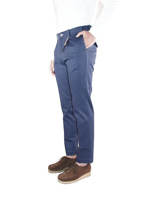 Pantalone slim fit una pence in denim blu R92 D-BNA