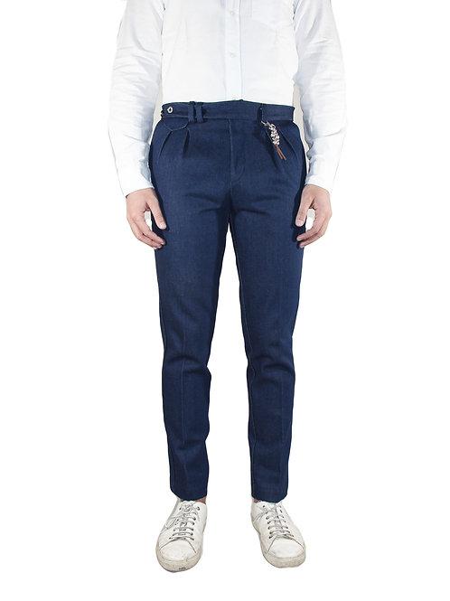 Slim fit blue denim trousers R96 D-BI01