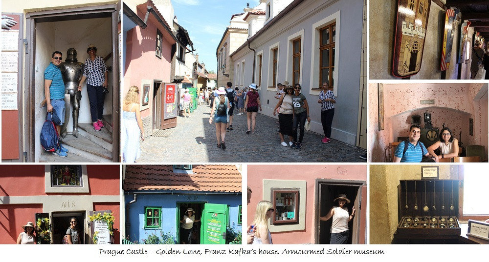 Prague Castle – Golden Lane, Franz Kafka's house, Armourmed Soldier museum