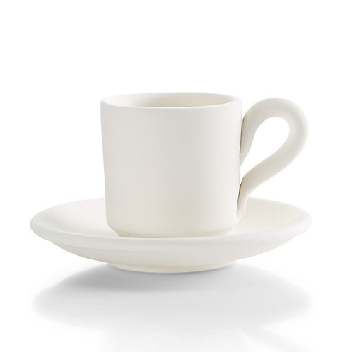 Expresso cup with saucer - 2.25D x 2.25H