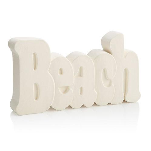 Beach word plaque - 7.5L x 4H