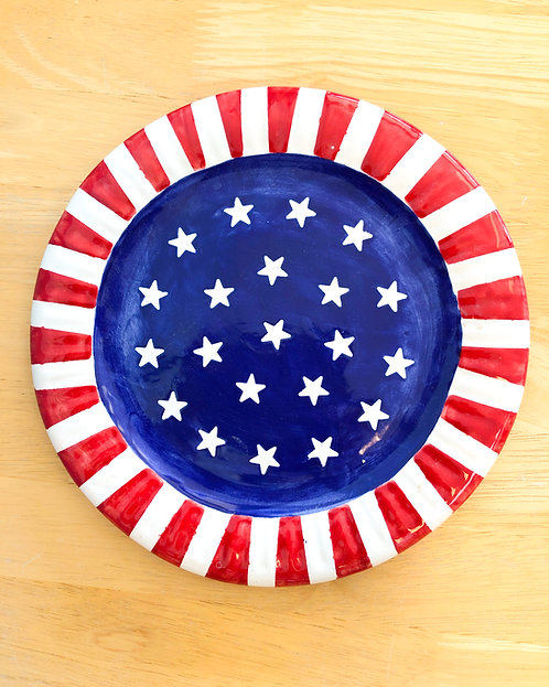 Round Flag Plate