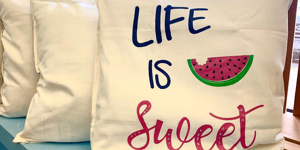 Life is sweet watermelon pillow (1)