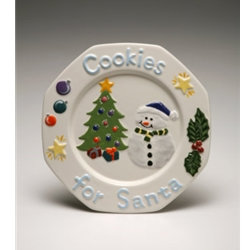 Cookies for santa plate- 9.5 in. W