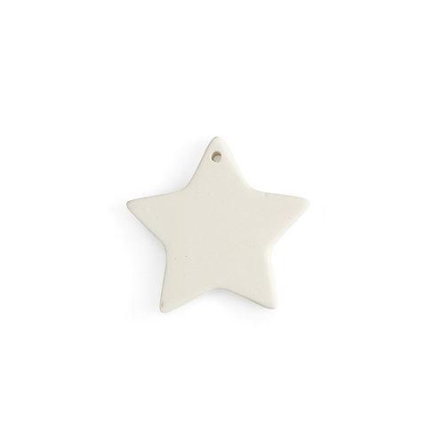 Flat star ornament - 3.25L x 3.5W