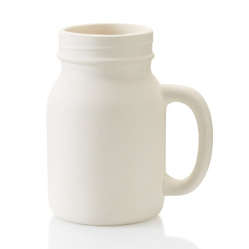 Jar mug - 5.25H x 3.5D 16oz