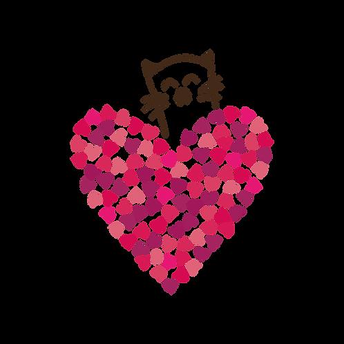 Heart Cat Stencil