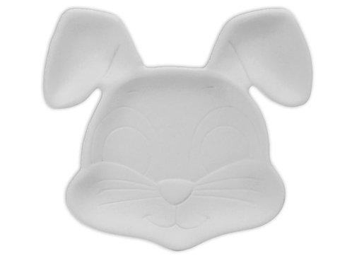 """Bunny dish - 5"""" L x 5 ½"""" W x ½"""" H"""