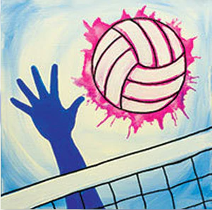 Volleyball Canvas