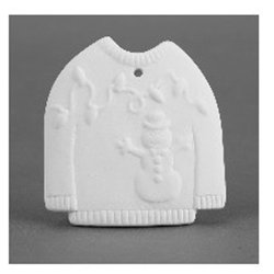 Ugly sweater ornament- 3.5 ib. x 3.25 in. x .25 in.