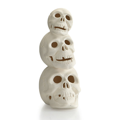 Stacking skull - 9.5H x 4W