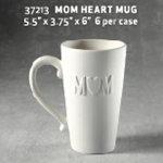 Mom heart mug - 5.5 in. x 3.75 in. x 6 in.