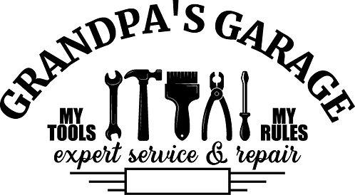 """""""Grandpa's Garage"""" Tools Stencil"""