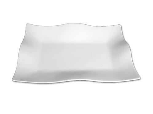 """Florentine platter - 12"""" L X 8 ¼"""" W X 1 ¾"""" H"""